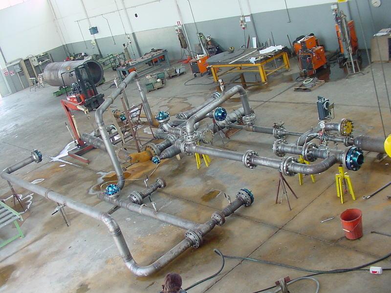 Controlli Collaudi e Montaggi Tubazione Caldereria- TCMI Bondeno - Collaudo Idraulico Tubazioni Piping -2