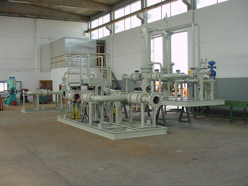 Montaggio su Skid - Impianto primo salto-riduzione Gas metano-1- TCMI Bondeno Ferrara
