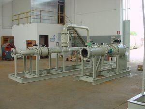 Montaggio su Skid - Impianto primo salto-riduzione Gas metano-2- TCMI Bondeno Ferrara