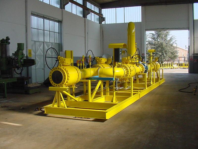 Montaggio su Skid - Impianto primo salto-riduzione Gas metano- TCMI Bondeno Ferrara- TCMI Bondeno Ferrara