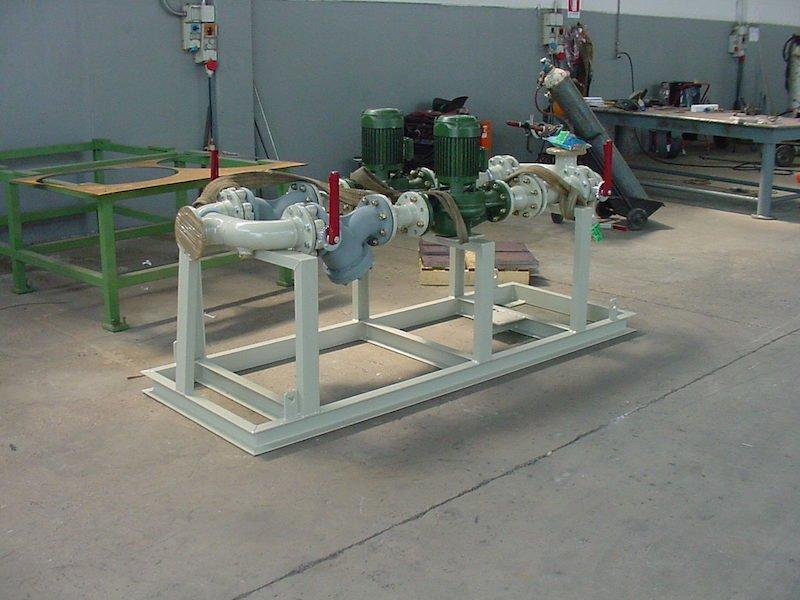 Montaggio su Skid - Impianto secondo salto-riduzione Gas metano- TCMI Bondeno Ferrara