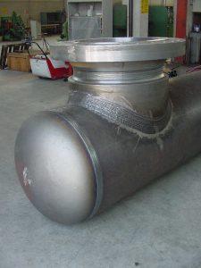 saldatura speciale su Collettore gas- Piping Impianti GAS - TCMI Officine Bondeno -